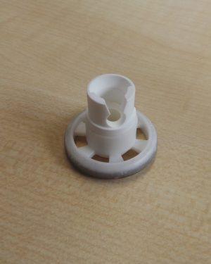Rolle + Halterung GEBRAUCHT für oberen Geschirrkorb für Geschirrspülmaschine AEG Favorit 60850 I-B